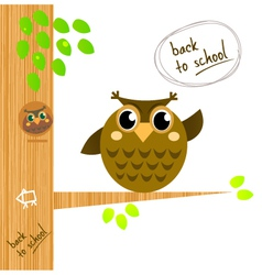 owl tree vector image vector image
