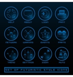 Set of Futuristic User Interface Icons vector image vector image
