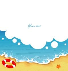 tropic back sea bbl vector image