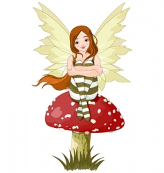 young forest fairy vector image vector image