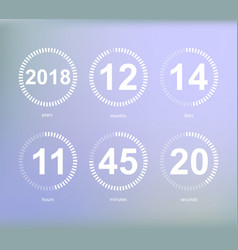 days hours minutes seconds icon of timer showing vector image