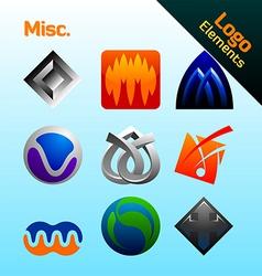 misc logo elements vector image vector image