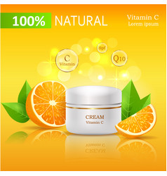100 natural cream with vitamin c vector