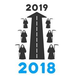 2019 scytheman future road flat icon vector