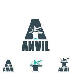 Anvil letter based vector