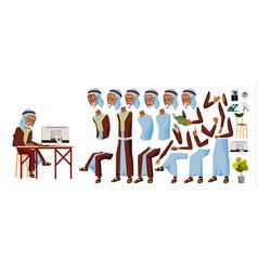 arab old man office worker arab muslim vector image