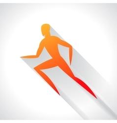 Athletics emblem abstract stylized running man vector