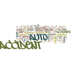 Auto accident lawyers text background word cloud vector