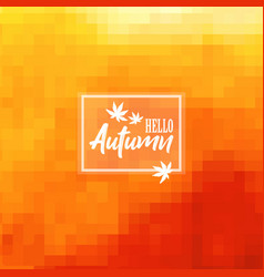 Autumn pixelated background vector