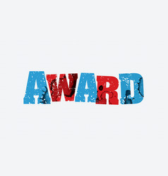 award concept stamped word art vector image