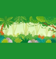 background with jungle african vector image