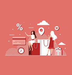 Big discount sales loyalty program offer vector