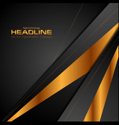 black and bronze colors abstract modern background vector image