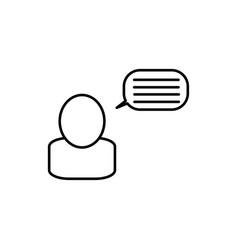 bloger icon vector image