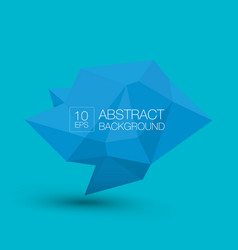 blue polygonal geometric banner abstract vector image