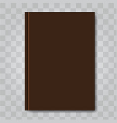 Book cover mock up dark brown color ready vector