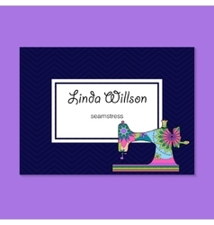 Business card for seamstress vector image