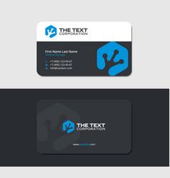 Business card with blue amphibian toe imprint vector