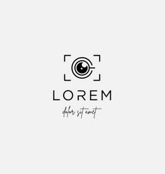 camera coffee logo template symbol design vector image