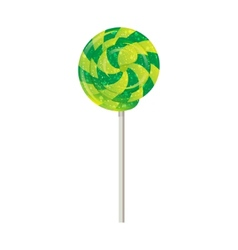 Candy on a stick spinner spiral vector image