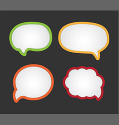 cartoon bubble speech - dialog messages vector image