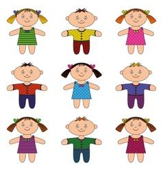 children boys and girls set vector image