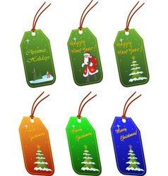 christmas tags isolated on white vector image
