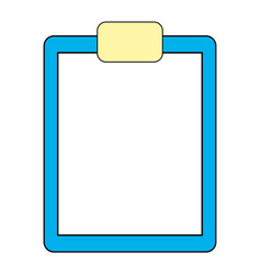 clipboard document symbol vector image