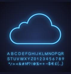 cloud computing neon light icon vector image