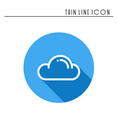 cloud sky heaven line simple icon weather vector image