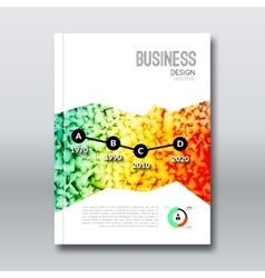 Colorful Business background triangle design vector