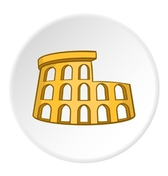 Colosseum icon cartoon style vector