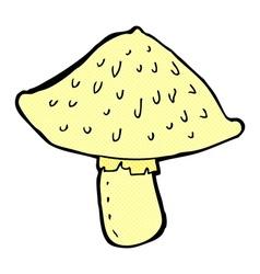 Comic cartoon wild mushroom vector
