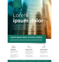 corporate brochure flyer template vector image
