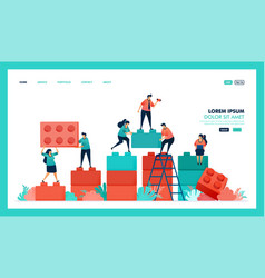 Design game lego business chart people vector