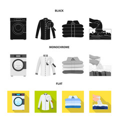 Design of laundry and clean logo set of vector