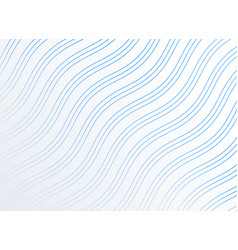diagonal smooth wavy lines pattern background vector image