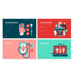 digital medicine web banners set vector image