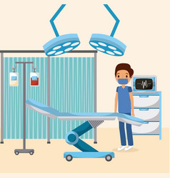 doctor medical bag blood equipment monitor lights vector image