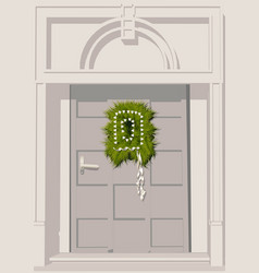 Door decoration vector