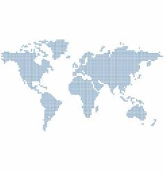dots world map vector image