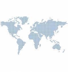 Dots world map vector