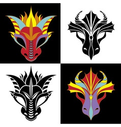 dragon mask vector image vector image