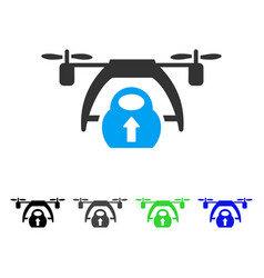 drone loading flat icon vector image