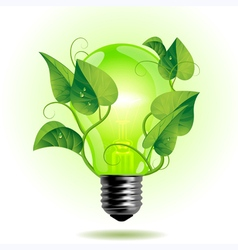 Ecology light bulb vector image
