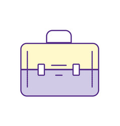 elegant briefcase to save business documents vector image