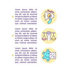 Ethical appeal concept line icons with text vector