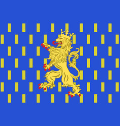 Flag of franche-comte is a region of france vector