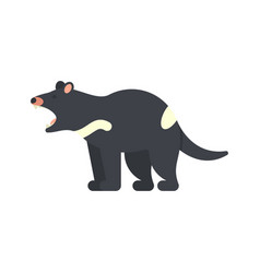 flat style of tasmanian devil vector image vector image
