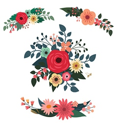 Floral compositions vector